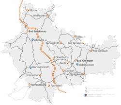 Geschäftsstellen der VR-Bank Bad Kissingen-Bad Brückenau eG